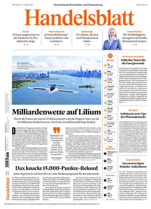 Handelsblatt (31.03.2021)