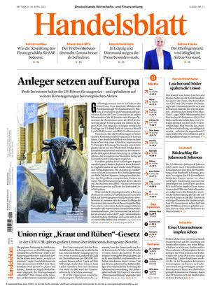 Handelsblatt (14.04.2021)