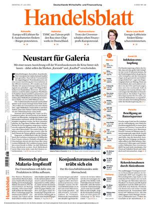 Handelsblatt (27.07.2021)