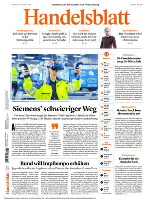 Handelsblatt (02.08.2021)