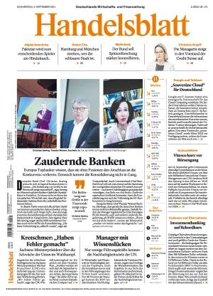 Handelsblatt (09.09.2021)