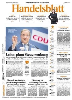 Handelsblatt (14.09.2021)