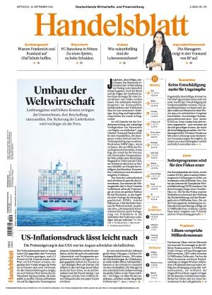 Handelsblatt (15.09.2021)