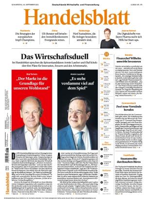 Handelsblatt (16.09.2021)
