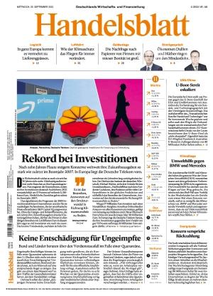 Handelsblatt (22.09.2021)