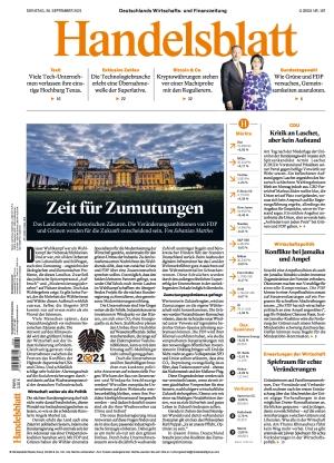 Handelsblatt (28.09.2021)