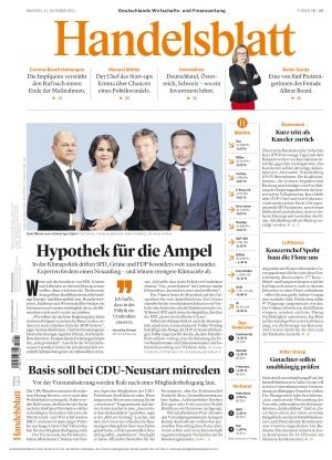 Handelsblatt (11.10.2021)