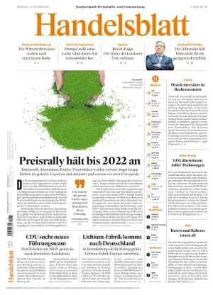 Handelsblatt (12.10.2021)
