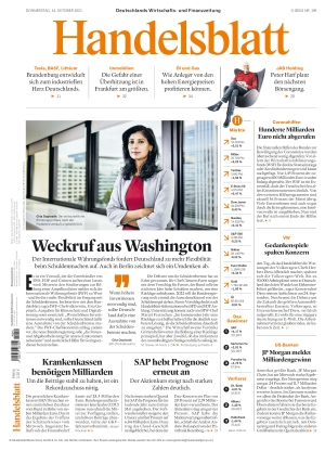 Handelsblatt (14.10.2021)