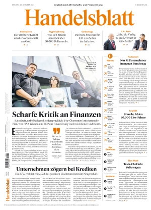 Handelsblatt (18.10.2021)