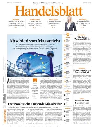 Handelsblatt (19.10.2021)