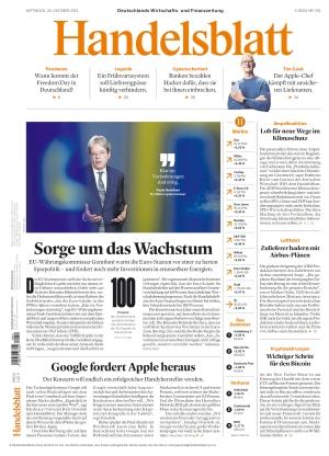 Handelsblatt (20.10.2021)