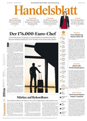 Handelsblatt (27.10.2021)