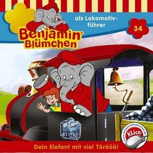 Benjamin Blümchen als Lokomotivführer