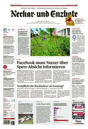 Ludwigsburger Kreiszeitung NEB (30.07.2021)