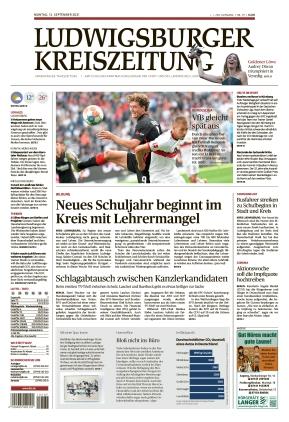 Ludwigsburger Kreiszeitung LKZ (13.09.2021)