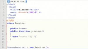 Objektorientierte Programmierung mit PHP