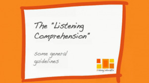 Listening Comprehension & Mediation
