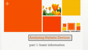 Analyzing Stylistic Devices