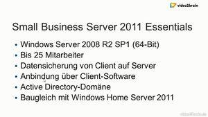 Windows Small 476536564 Server 2011 Standard und Essentials Grundkurs
