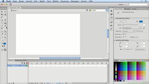 Flash CS6 lernen: Werkzeugpalette