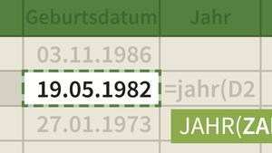 Excel: Datum und Uhrzeit