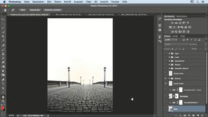Composing mit Photoshop: Lady in Black