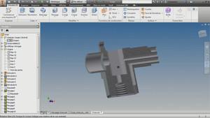 Modéliser une pièce mécanique complexe avec Inventor
