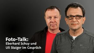 Foto-Talk: Eberhard Schuy und Uli Staiger im Gespräch