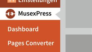 Muse: WordPress-Funktionalität mit MusexPress 3