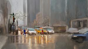 Digital Painting in Photoshop: Street Scene
