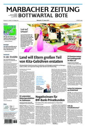 Marbacher Zeitung (27.01.2021)