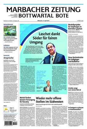 Marbacher Zeitung (21.04.2021)