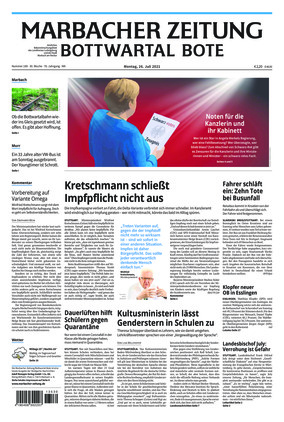 Marbacher Zeitung (26.07.2021)