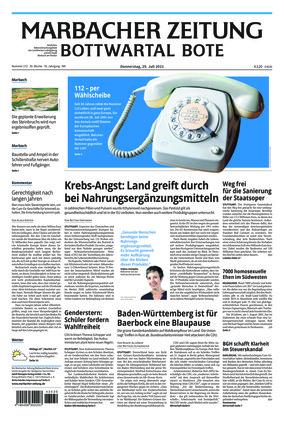 Marbacher Zeitung (29.07.2021)