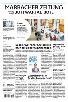 Marbacher Zeitung (20.09.2021)