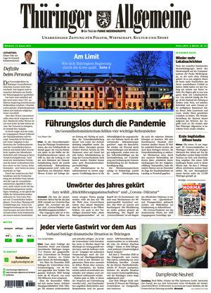 Thüringer Allgemeine - Erfurt (13.01.2021)
