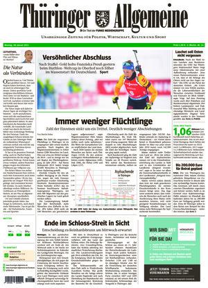 Thüringer Allgemeine - Erfurt (18.01.2021)