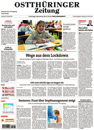 Ostthüringer Zeitung - Gera (23.02.2021)