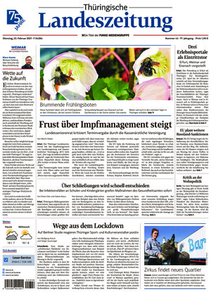Thüringische Landeszeitung - Weimar (23.02.2021)