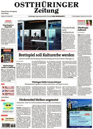 Ostthüringer Zeitung - Gera (24.02.2021)