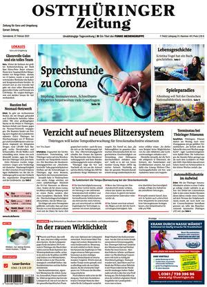 Ostthüringer Zeitung - Gera (27.02.2021)