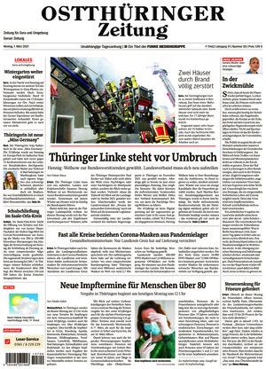 Ostthüringer Zeitung - Gera (01.03.2021)