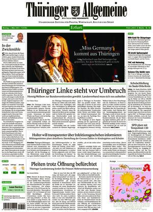 Thüringer Allgemeine - Erfurt (01.03.2021)