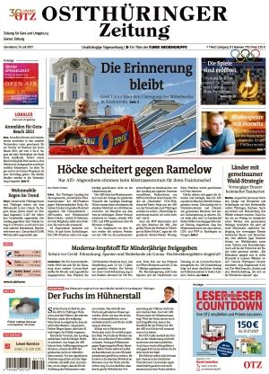 Ostthüringer Zeitung - Gera (24.07.2021)