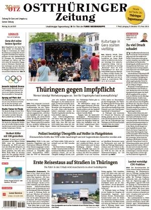 Ostthüringer Zeitung - Gera (26.07.2021)