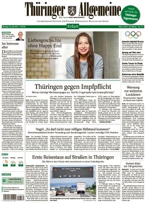 Thüringer Allgemeine - Erfurt (26.07.2021)