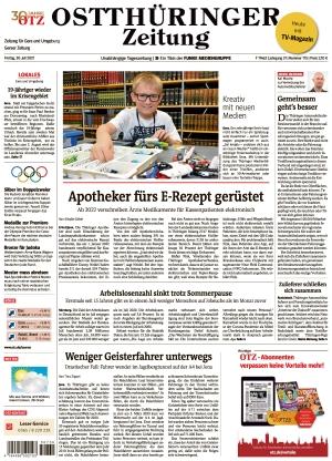 Ostthüringer Zeitung - Gera (30.07.2021)