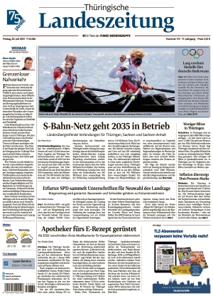 Thüringische Landeszeitung - Weimar (30.07.2021)