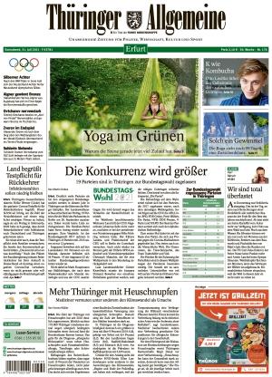 Thüringer Allgemeine - Erfurt (31.07.2021)